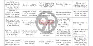 BINGO!  June Member Challenge!