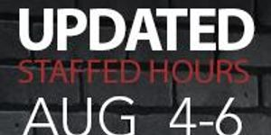 HERITAGE DAY LONG WEEKEND - HOURS