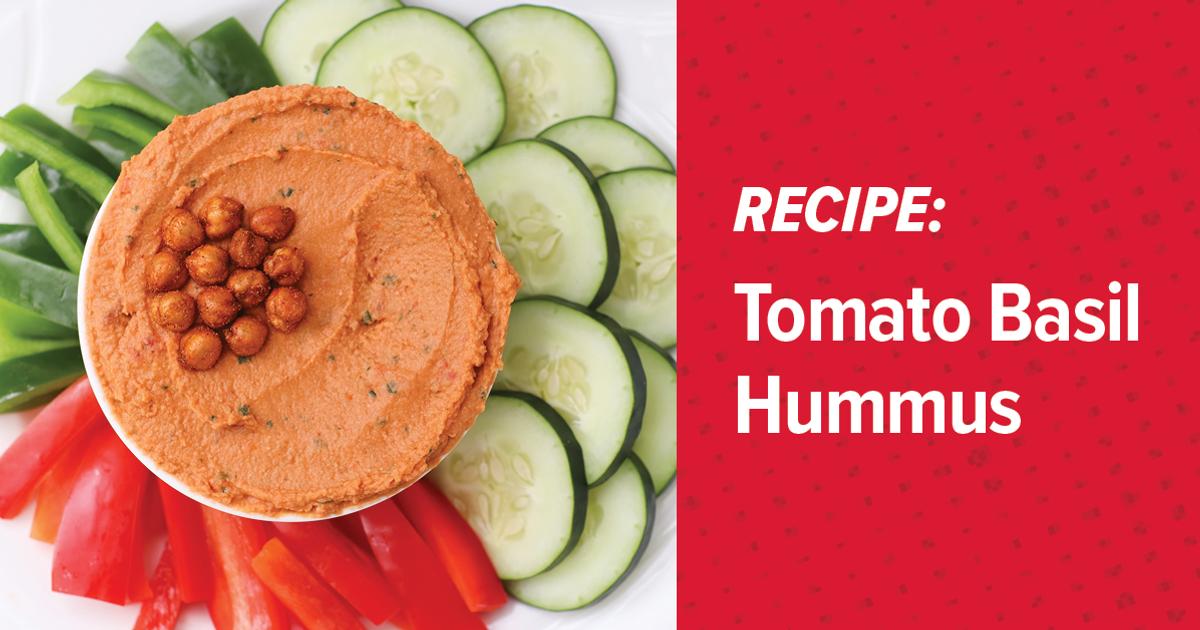 Tomato Basil Hummus