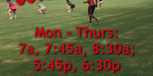OUTDOOR WORKOUTS- SCHEDULE for WEEK ENDING 8/23/20