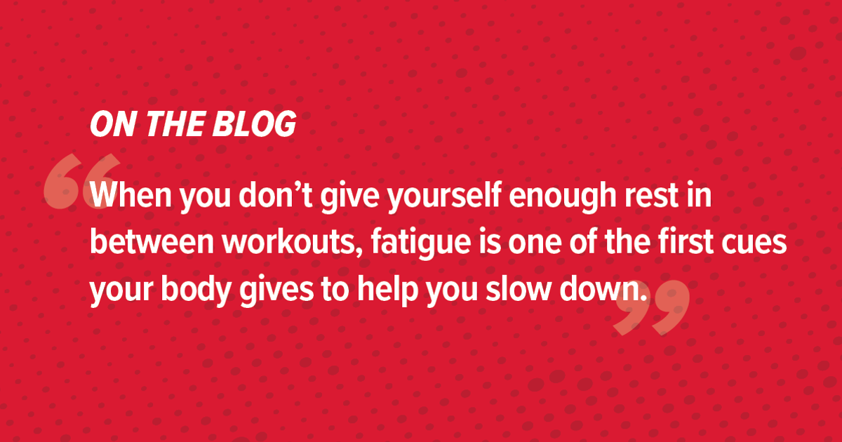 5 Signs You Need a Rest Day